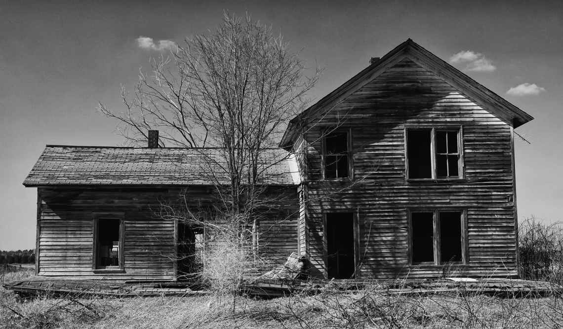 photo of grayscale house