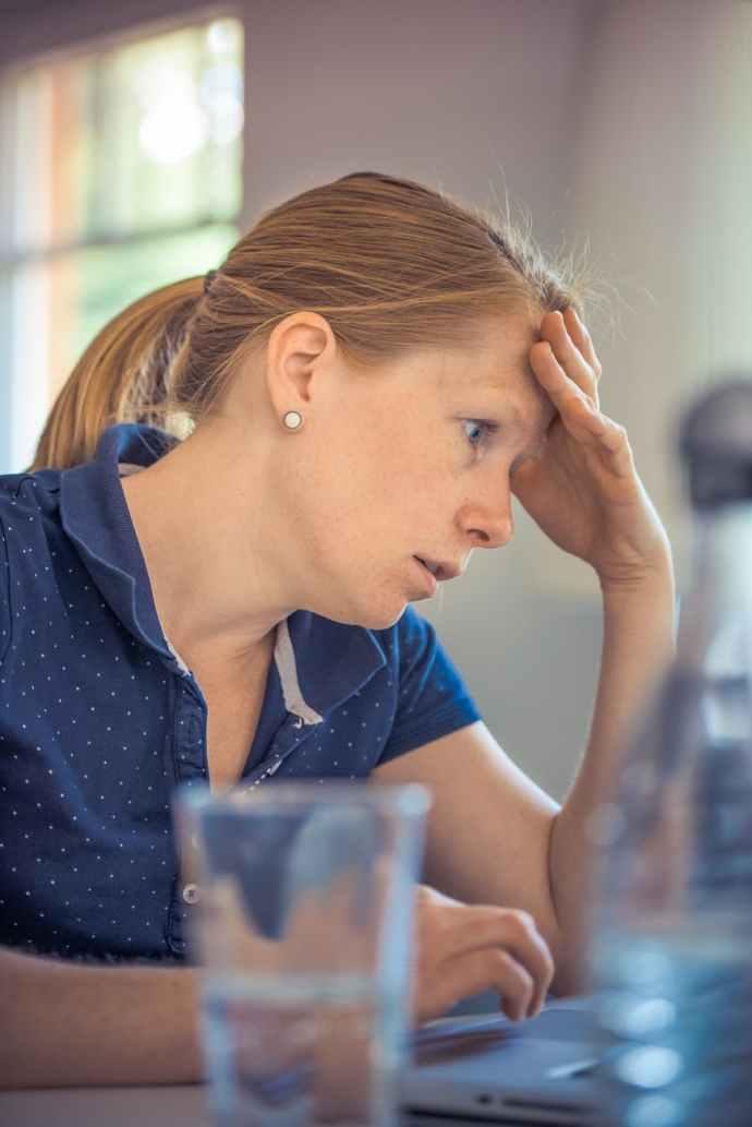 woman working girl sitting